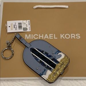 Michael Kors Montauk luggage tag Key Fob lanyard